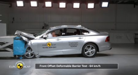 Volvo S90 V90 Euro NCAP crash test