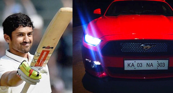 Cricketer Karun Nair Gets Himself A Ford Mustang GT With Personalised Number Plate