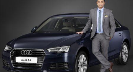 Mr. Rahil Ansari, Head, Audi India with the all New Audi A4 35 TDI
