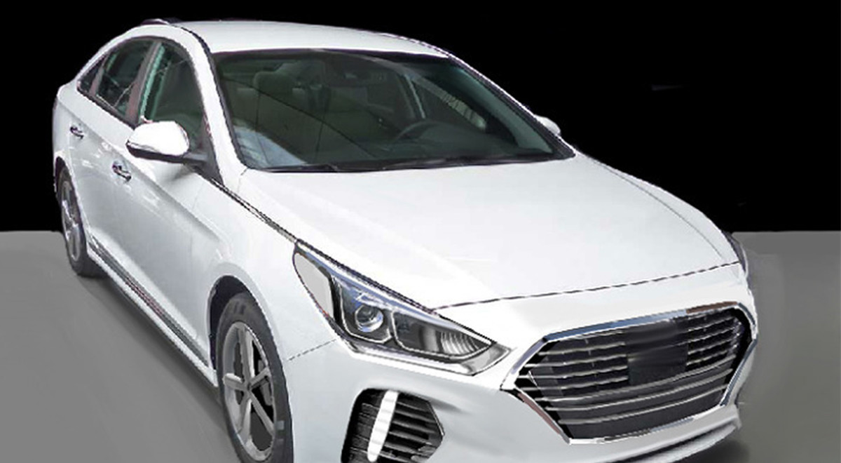 2018 Hyundai Sonata Facelift Accurately Rendered Before