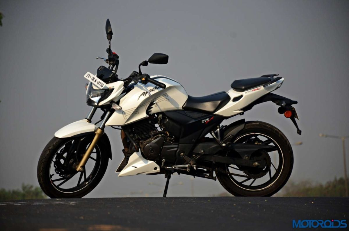 TVS Apache RTR 200 4V side profile