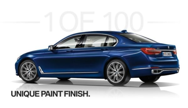 BMW Individual M760Li xDrive V12 Excellence THE NEXT 100 YEARS - Unique paint finish