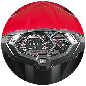 2017 Honda Dio - A different design for the instrument cluster