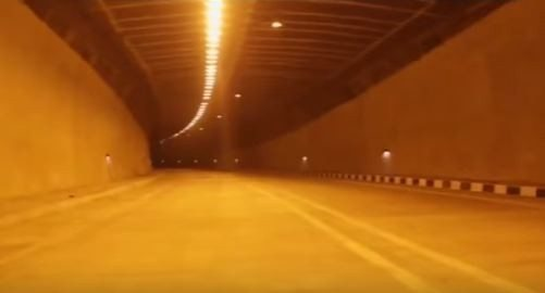 Jammu Sringar highway tunnel 2