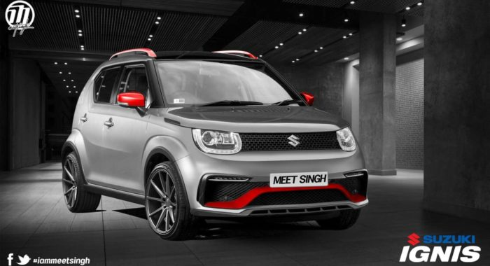 This Digitally Modified Maruti Suzuki Ignis Strikes A Pose