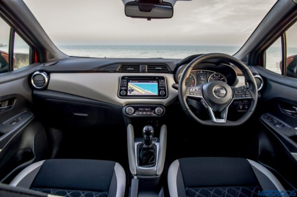 The New Nissan Micra dashboard