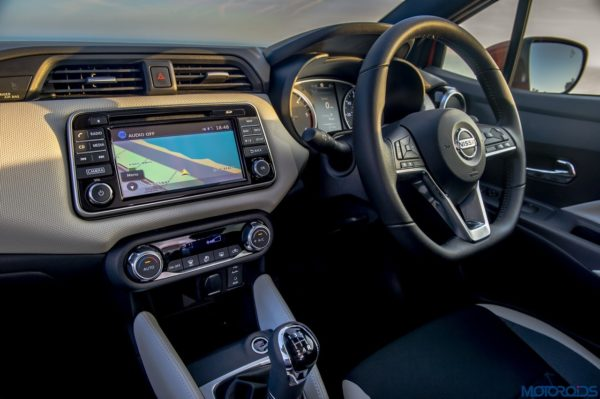 The New Nissan Micra 7-inch full-colour multi-touch display