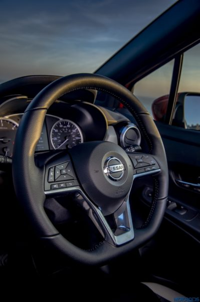 The New Nissan Micra steering