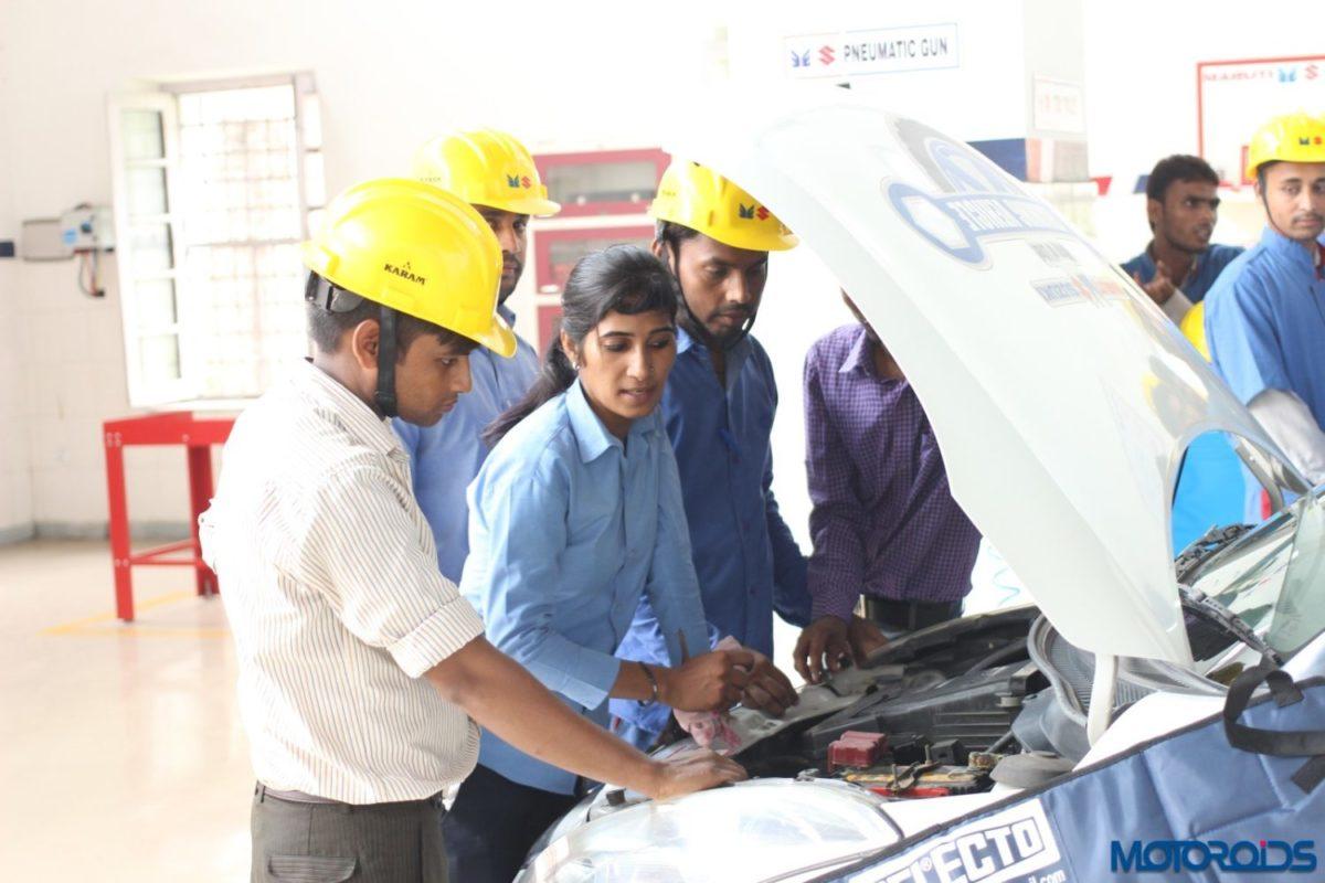 Poonam Singh Maruti mechanic