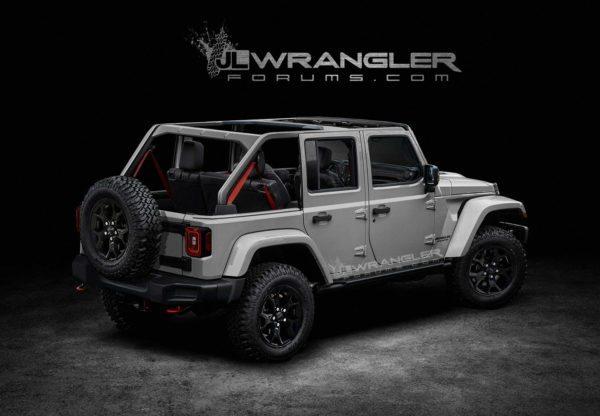 Wrangler 2018 rear open tagged