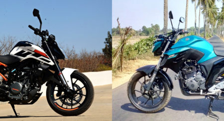 KTM 250 Duke vs Yamaha FZ25 : Let the Quarter Litre War Begin