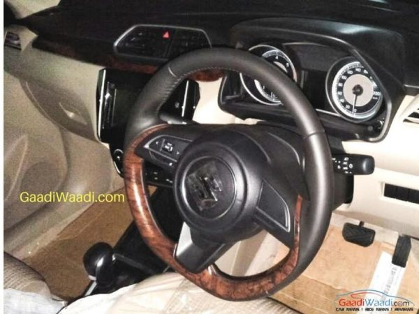 2017 Maruti Swift Dzire Interior steering