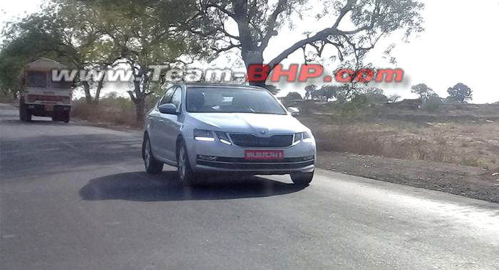 2017 Skoda Octavia Facelift Spotted Testing In India For The First Time
