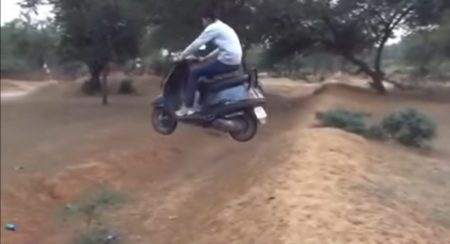 VIDEO: Flying without wings on a Honda Activa