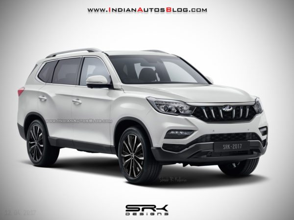 Mahindra XUV700 2017 Ssangyong Rexton Rendering