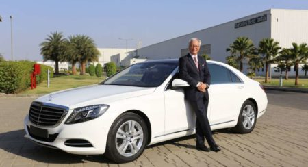 Mr. Roland Folger, MD and CEO, Mercedes-Benz India with the S-Class 'Con...