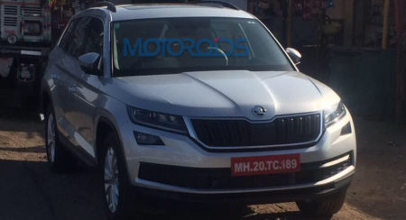Skoda Kodiaq Spotted Completely Undisguised Yet Again, Interiors Leaked
