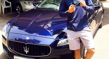 Sushant Singh Rajput Maserati Quttroporte