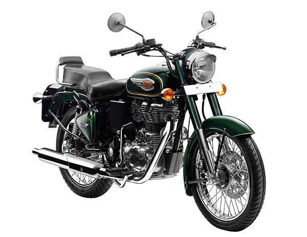 bullet 500 slant front green motorcycles