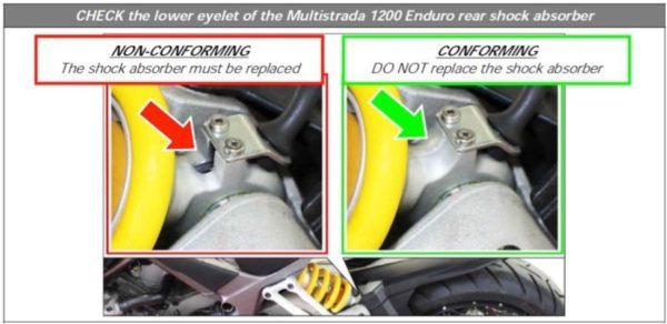 Faulty Rear Suspension - Ducati Multistrada 1200 Enduro