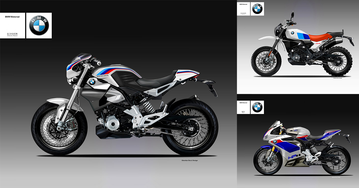 Oberdan Bezzi Digitally Creates Bmw G310r Scrambler Cafe Racer And
