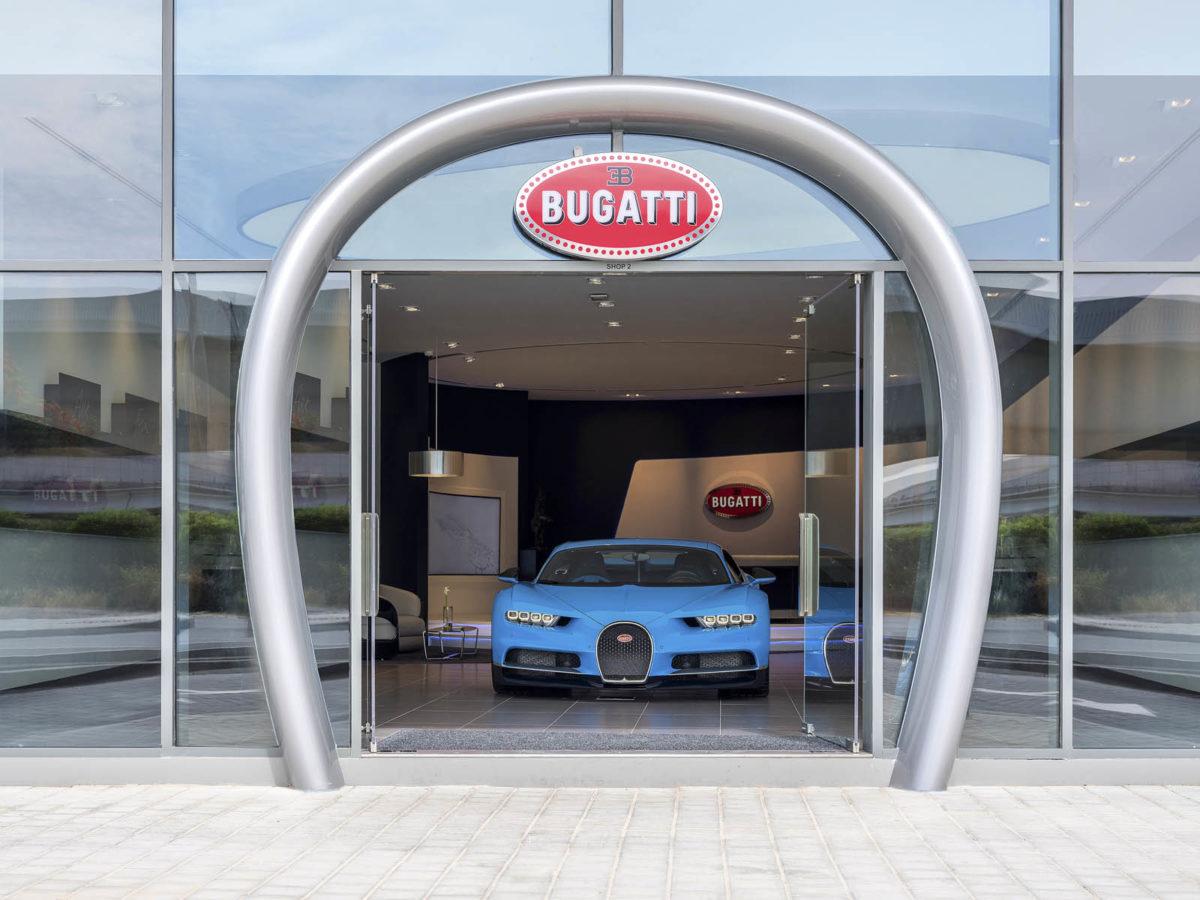 Bugatti Dubai entrance