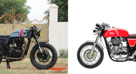 Custom Royal Enfield Continental GT - Grey Hound - Feature Image