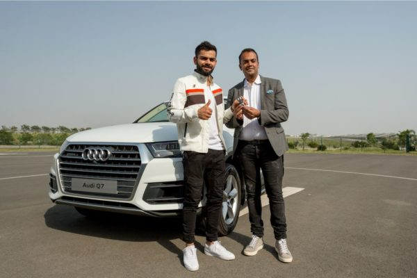 Virat Kohli Welcomes New Audi Q7 45 TDI