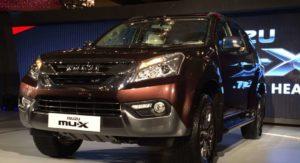 Isuzu MU-X India Launch brown