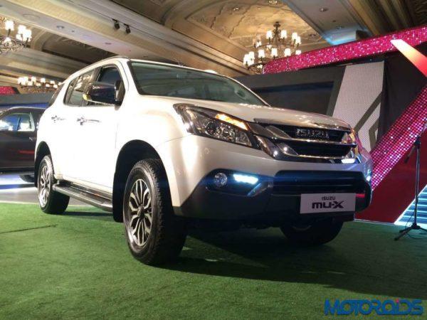 Isuzu MU-X India launch white