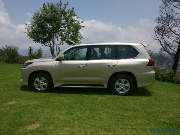 Lexus LX 450d - side view - doors - wheels