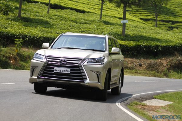 Lexus LX 450d - front view - action shot