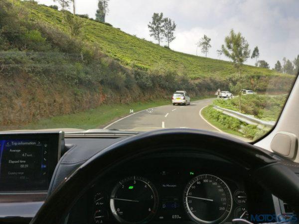 Lexus LX 450d - terrain monitoring system