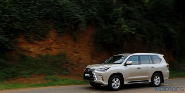 Lexus LX 450d - side view - action shot