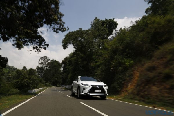 Lexus RX 450h - side action shot