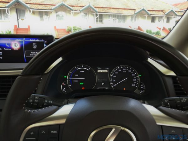 Lexus RX 450h - steering - display