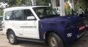 New Mahindra Socrpio facelift front fascia