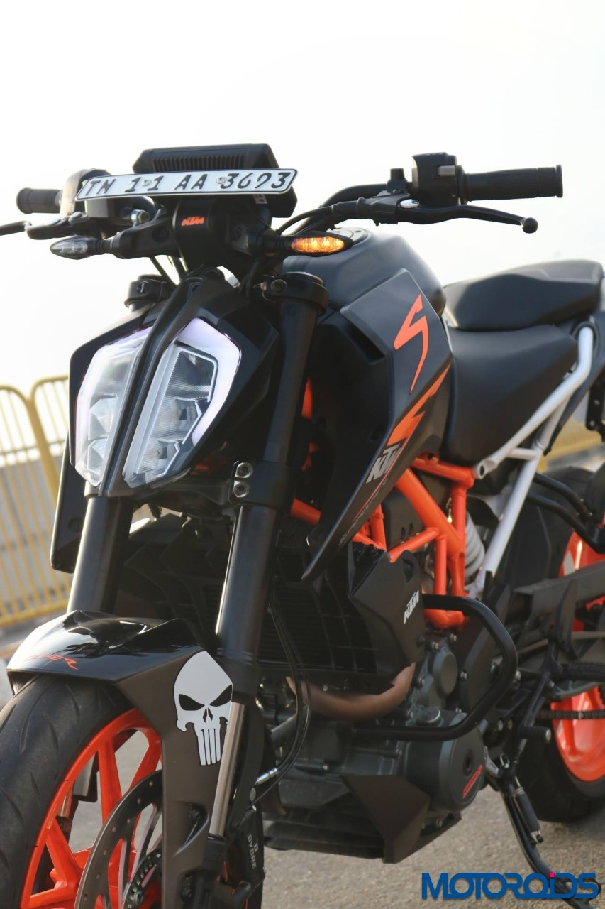 This Modified 2017 Ktm 390 Duke With A Matte Black Wrap