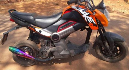 Modified Honda Navi to KTM Duke 200 (3)