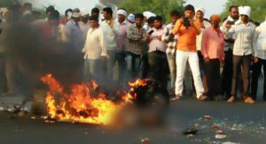 Motorcyclist Burns To Death While Passers By Click Photographs