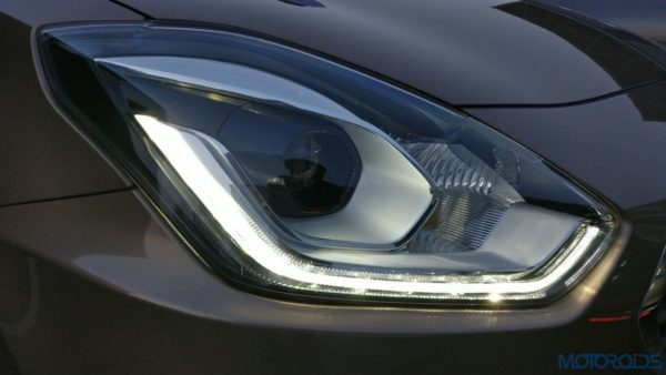 Maruti Suzuki Dzire - headlamps with DRLs