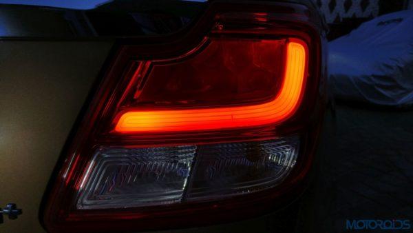 Maruti Suzuki Dzire - LED tail lamp details