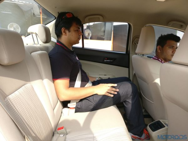 2017 Maruti Dzire Passenger Seats Review