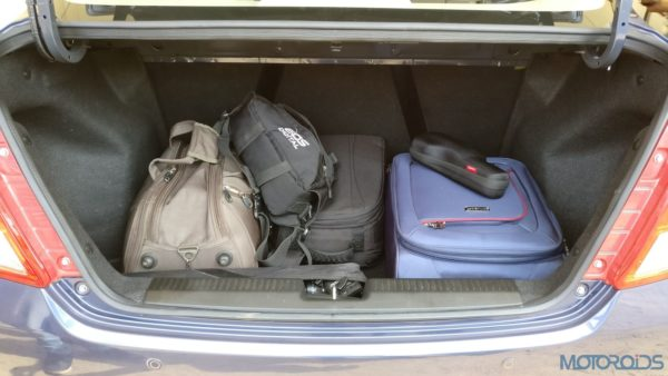 Maruti Suzuki Dzire - boot space with luggage