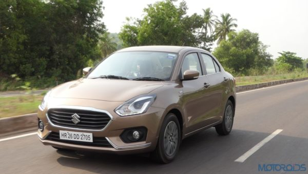 2017 Maruti Dzire on road action review