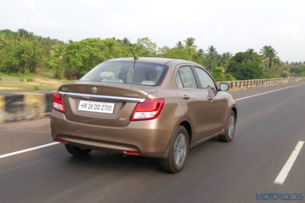 2017 Maruti Dzire Action Shot Rear Review