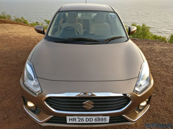 2017 Maruti Dzire close-up front Review