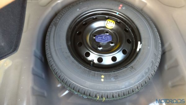 Maruti Suzuki Dzire spare wheel