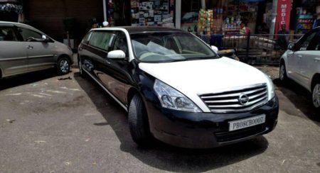 Nissan Teana Stretch Limousine seized (1)