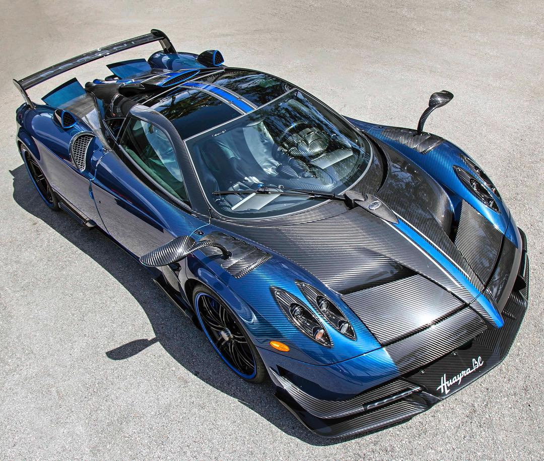 Bespoke Pagani Huayra Bc Finished In Blue Carbon Lands In The U S Motoroids